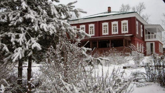 Manor of the factory owners Dumnovs in the village of Zarechye (Kirzhach district)